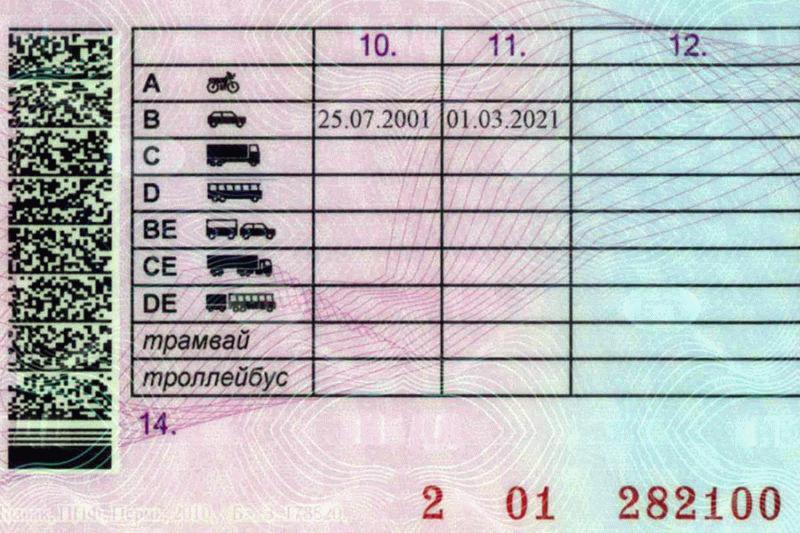 Водительские права.