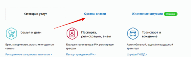 """Раздел """"Органы власти"""""""