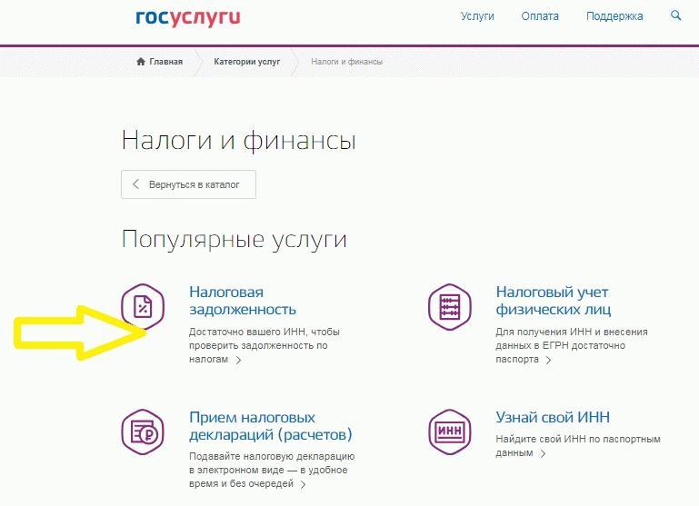 Использование портала Госуслуг для запроса налоговой задолженности