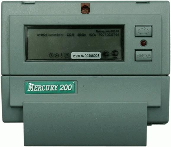 Электрический многофазовый счетчик Mercury 200