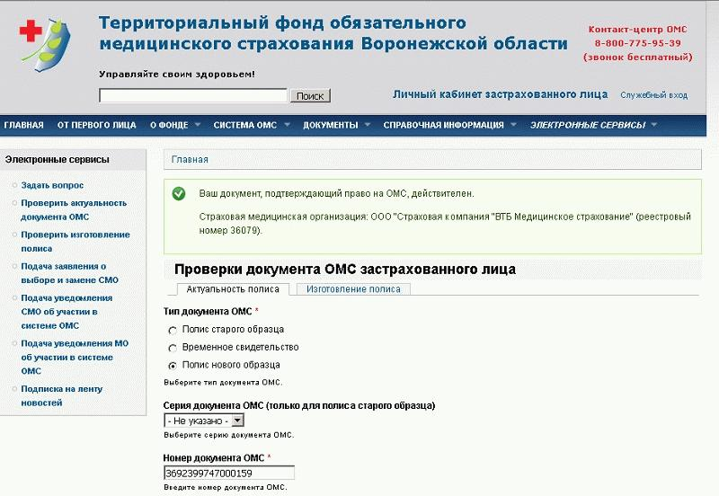 Получение названия страховой компании через сайт ТФОМС