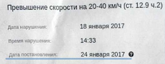 Дата постановления