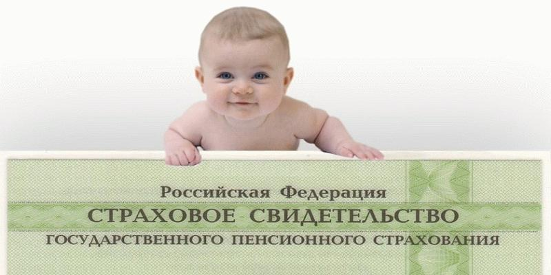 страховое свидетельство на детей можно получать с самого рождения