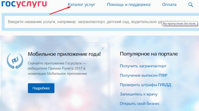 Портал Госуслуги предоставляет зарегистрированным пользователям возможность оформления документов