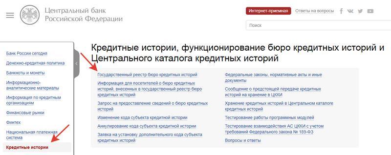 Сайт Центробанка