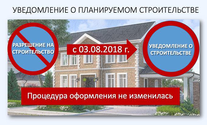При начале строительства дома необходимо составить и направить уведомление