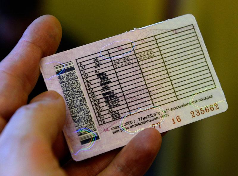 Внешний вид водительского удостоверения
