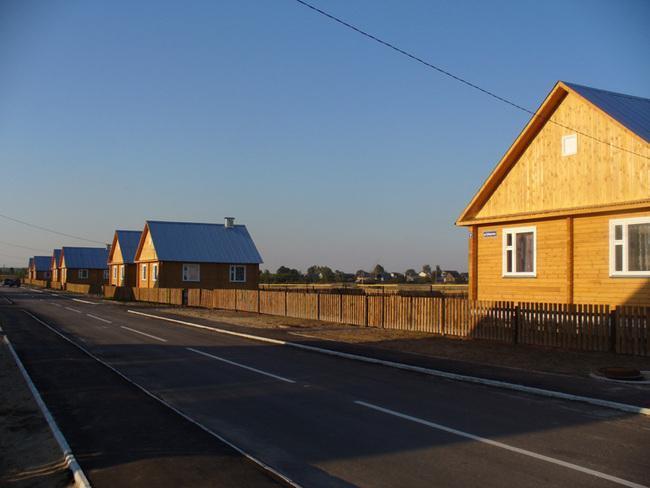 Благоустроенное современное село