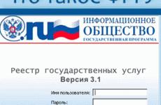 Федеральный реестр государственных и муниципальных услуг (функций)
