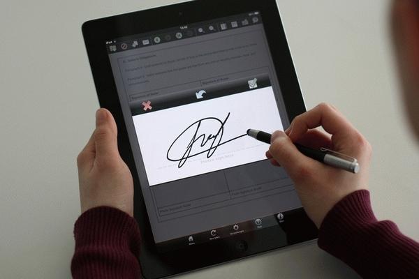 Электронная подпись документа.