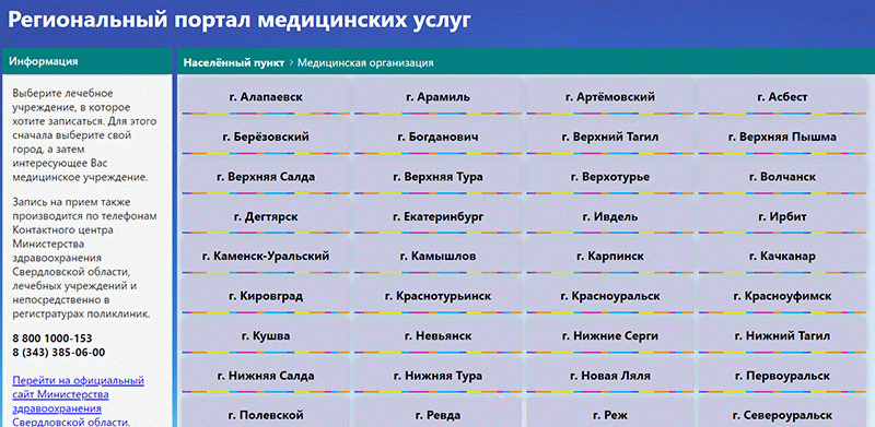 Портал госуслуг в Свердловской области