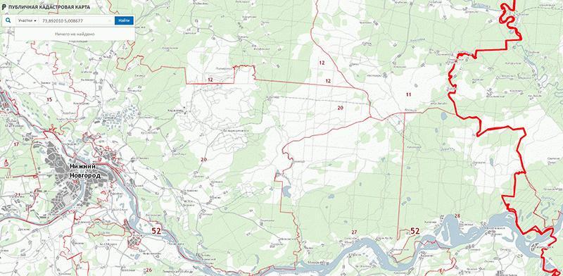 Карта кадастровых номеров