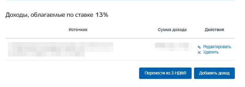 Доходы по ставке 13%